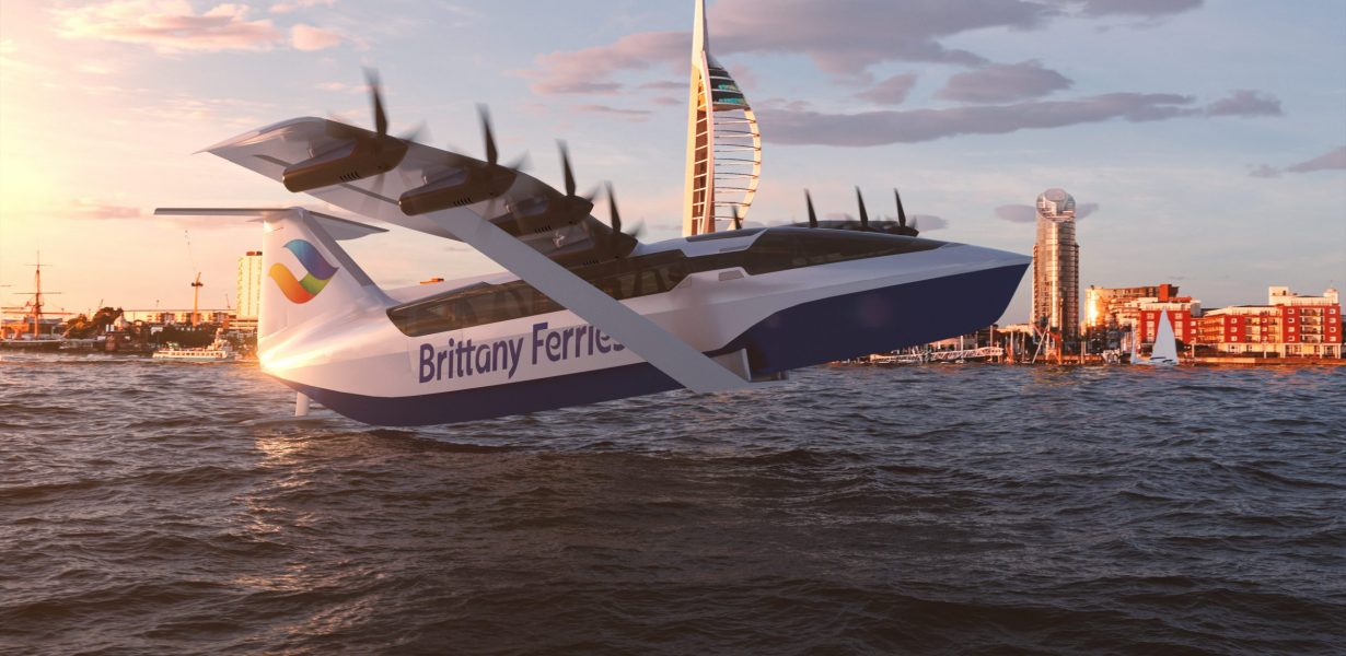 New all-electric craft concept foils like a hydrofoil and flies like a plane – all with the comfort and convenience of a ferry