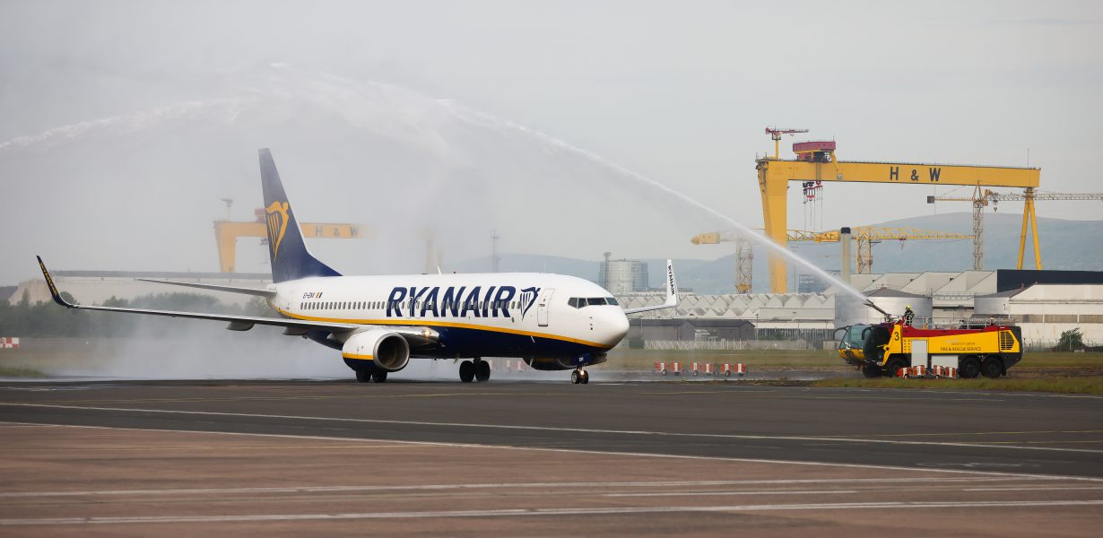 RYANAIR FLIGHTS TO EUROPE TAKE OFF FROM BELFAST CITY AIRPORT